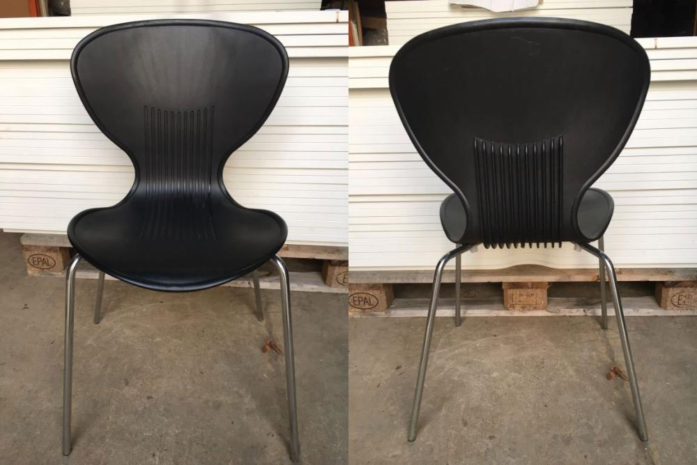 Awesome Black Plastic Stacking Chairs #11 - Used Black Plastic Stacking Chairs