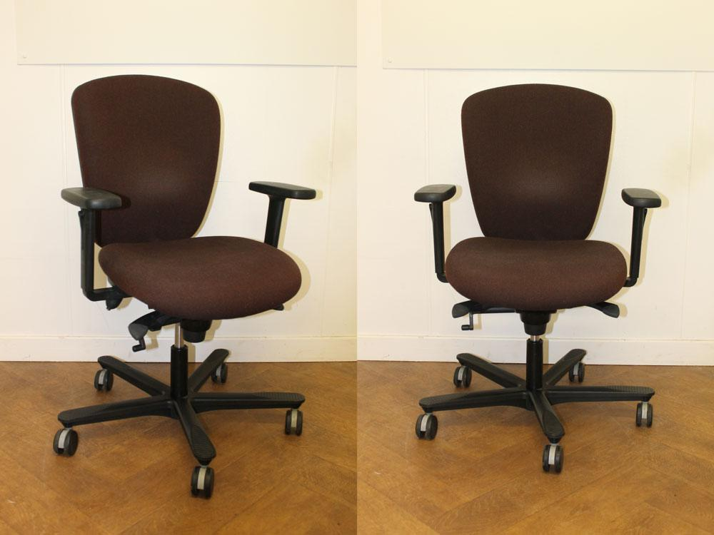 Office Clearance Wiltshire Used Efg Brown Cloth Swivel Chair