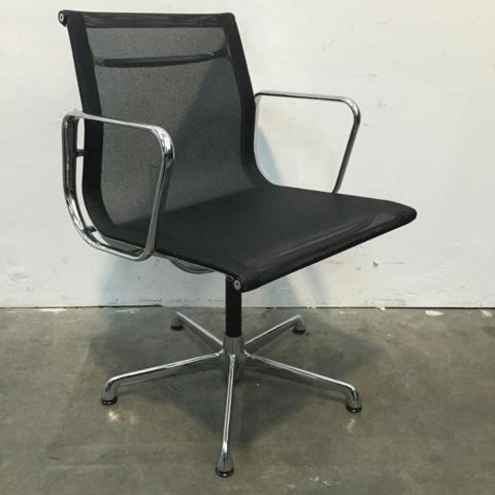 Black Armchair Office Clearance Wiltshire Used Icf Vitra