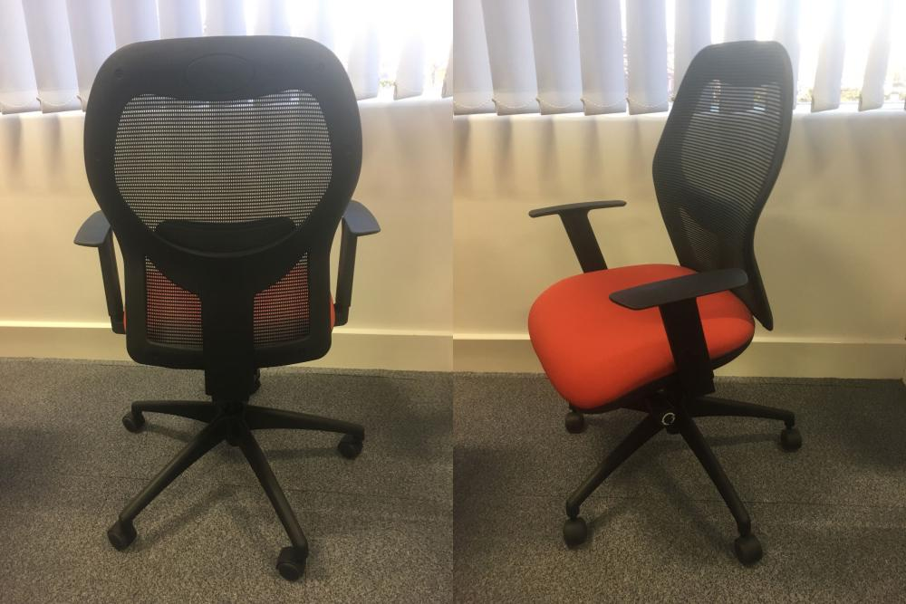 Office Clearance Wiltshire Used Orangebox Style Black Mesh