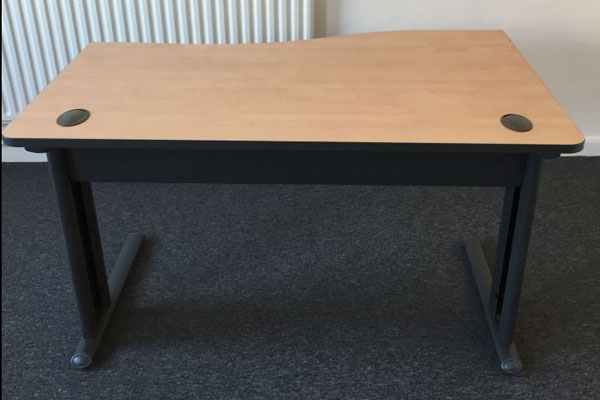 Used Beech 1400mm wave desks New and  Used Office Furniture Wiltshire