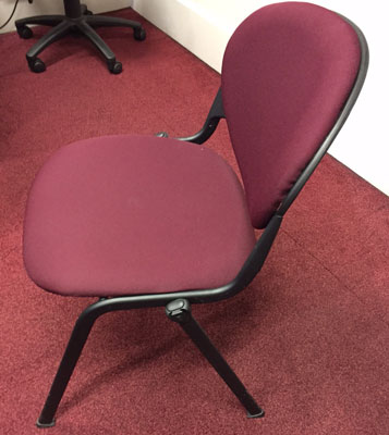 Burgundy cloth stacking chair at New and  Used Office Furniture Wiltshire