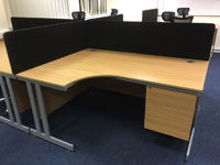 Lee & Plumpton Astral Euro Oak Corner Desks