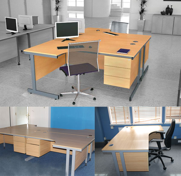 Beech Corner workstation New and  Used Office Furniture Wiltshire