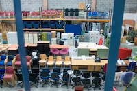Views of our New and Used Office Furniture in the new display warehouse