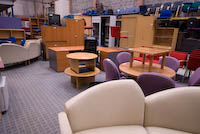 Used office furniture image from the showroom in 2010