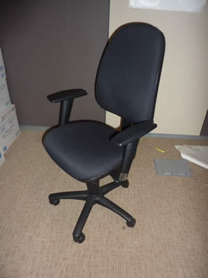 Vector Black Cloth Operators Chair with Arms